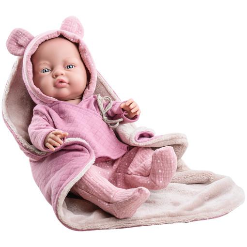 Розовый костюмчик с ушками для куклы Бэби, 45 см