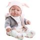 Белые ползунки, курточка и шапка для куклы Бэби, 45 см