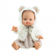 Платье и пушистая накидка с ушками для куклы Горди, 34 см