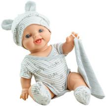 Серый костюмчик с шапочкой с ушками для куклы Горди, 34 см