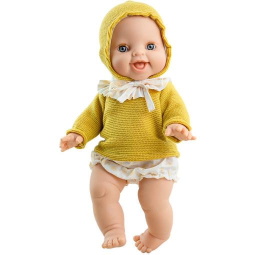 Желтый свитер с капюшоном и трусики для куклы Горди, 34 см
