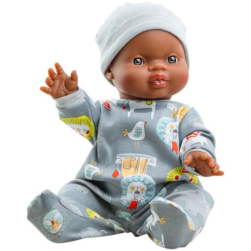 Серый комбинезон и шапочка для куклы Горди, 34 см