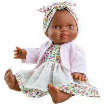 Пупс Горди Ольга в платье с передником и розовой кофточке, 34 см