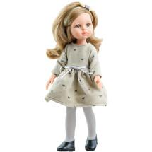 Платье с сердечками, колготки и ободок для кукол 32 см