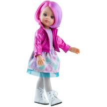 Наряд с ярко-розовым жакетом для кукол 32 см