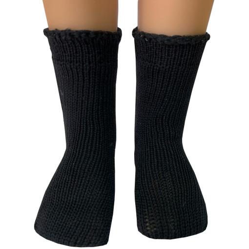 Носочки черные для кукол 32 см