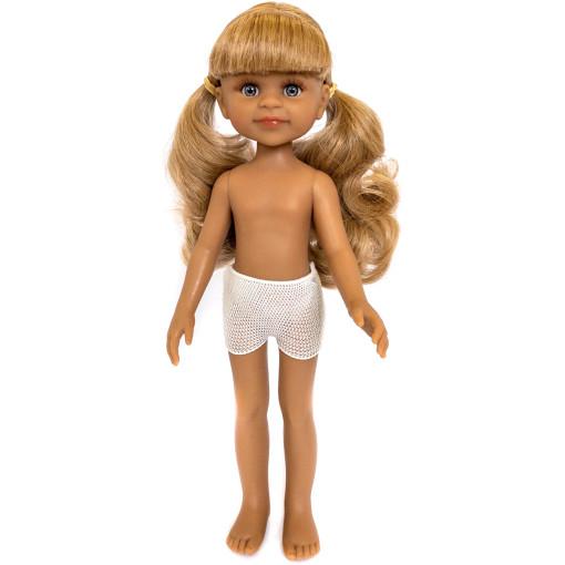 Кукла Клео блондинка с челкой и двумя хвостиками, 32 см