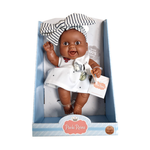 Кукла-пупс Берта, 22 см, мулатка