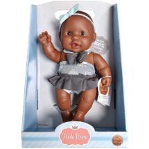 Кукла-пупс Грета, 22 см, мулатка