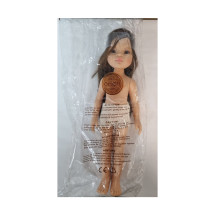 Кукла Мали, шатенка с длинными волосами, без одежды, 32 см